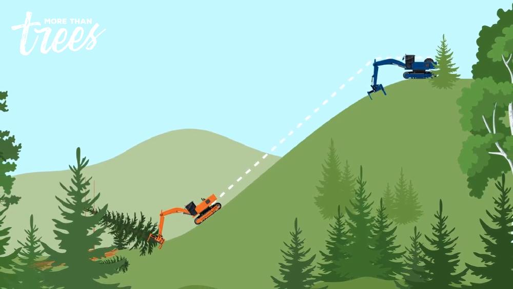 illustration winch assist system on slope