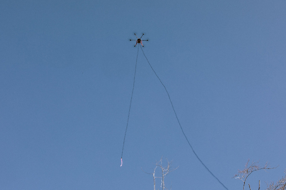 Drone carrying Haywire