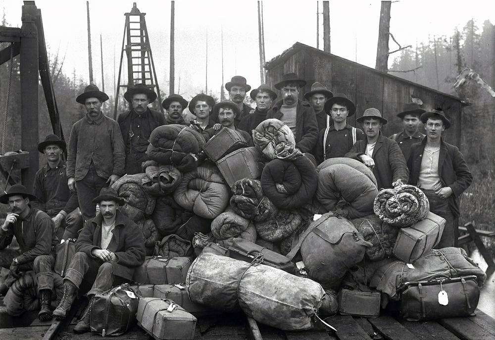 Polson Loggers Logging Camp Luggage