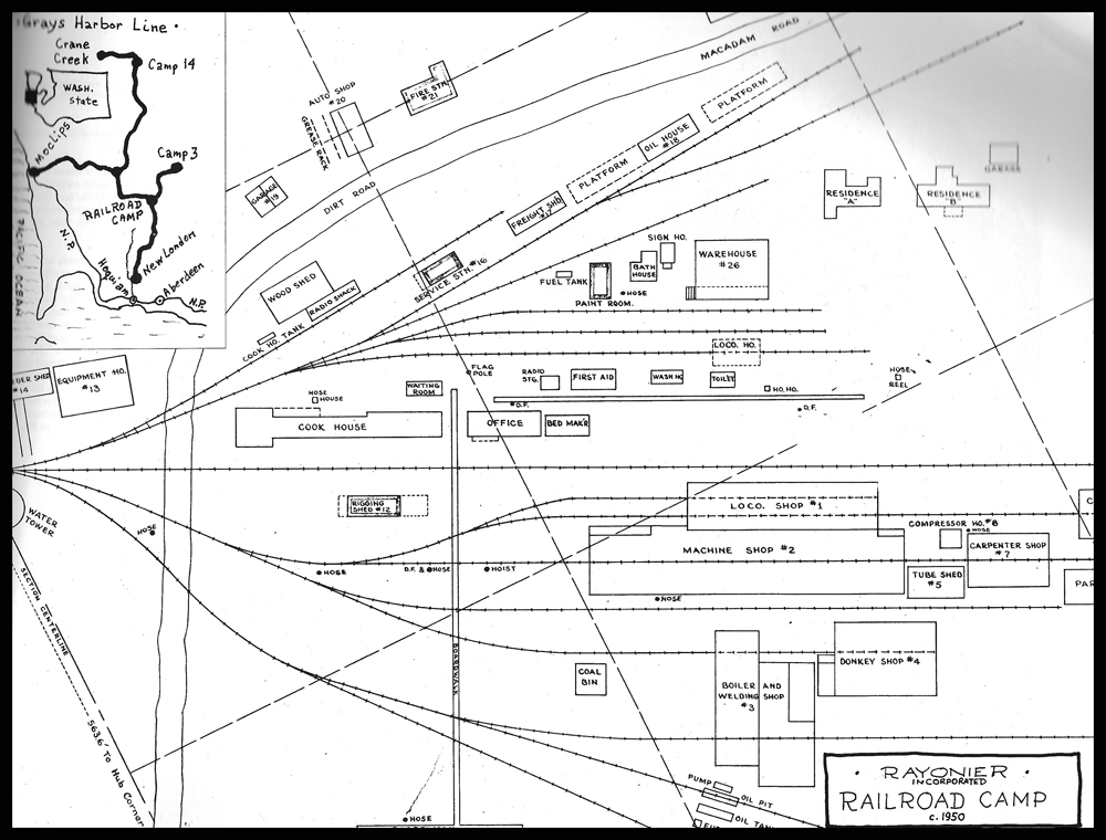 Rayonier Railroad Camp Map