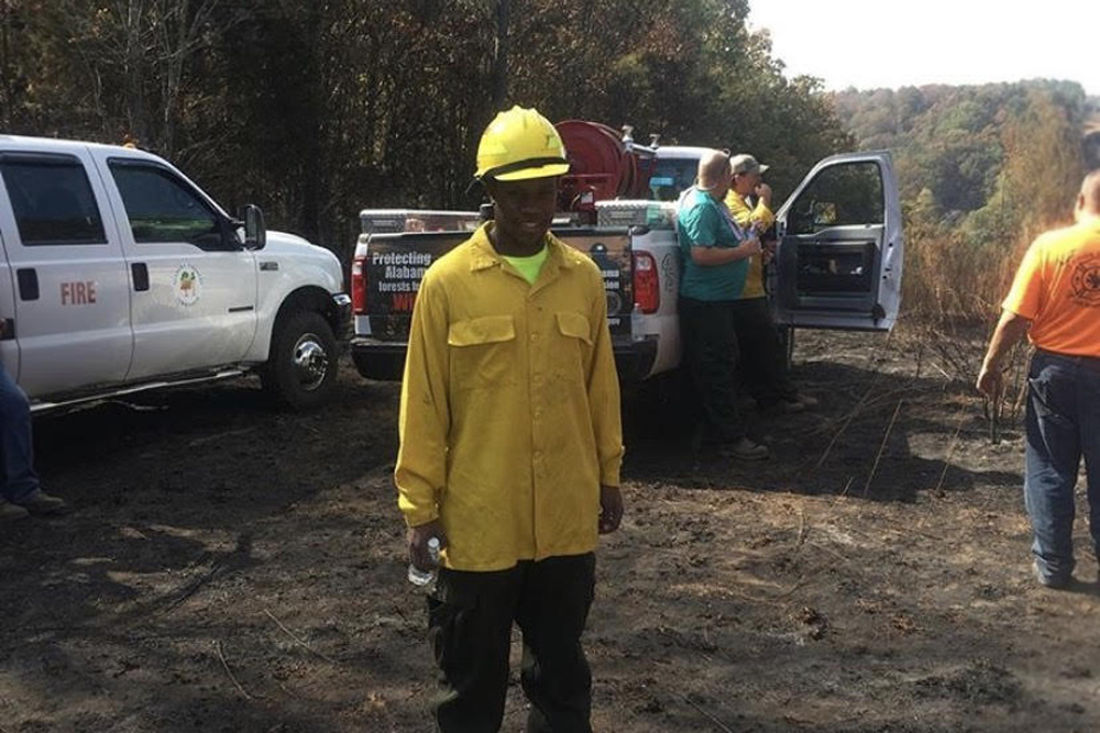 AAMU wildland firefighter