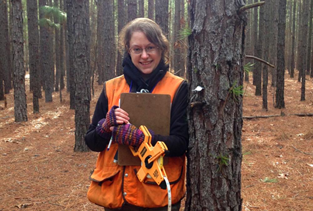 doing hands on work in forestry school