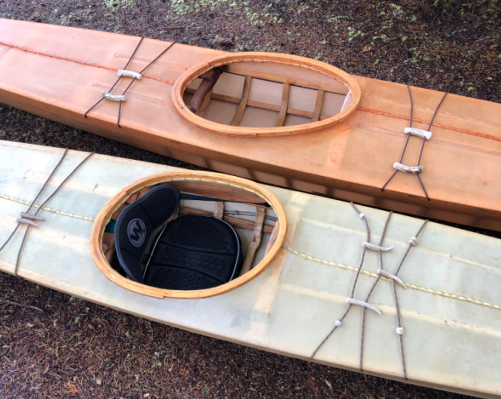 Neris's traditional East Greenland Style kayaks were the fan favorite in the 2020 Rayonier Employee DIY Contest.